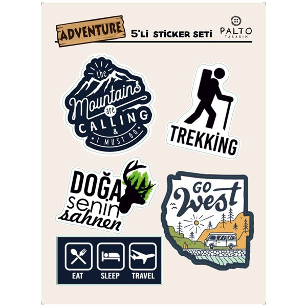 Adventure 5'li Sticker Seti