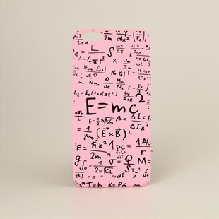 E=mc2 Pembe Iphone 6 Plus Telefon Kılıfı