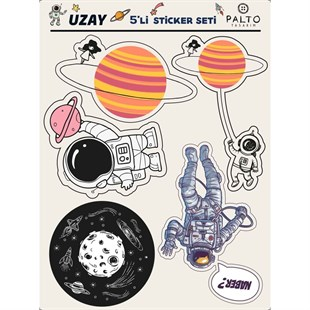 Uzay 5li Sticker Seti